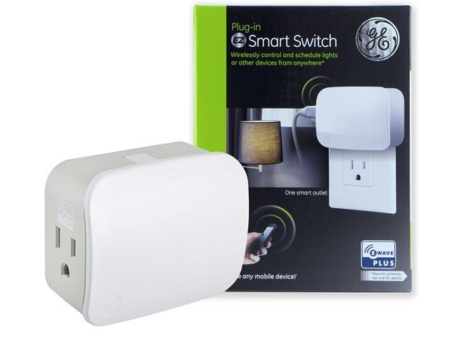 GE Z-Wave Plus Plug-in Smart Switch, Single Outlet, 500S (28169 ...