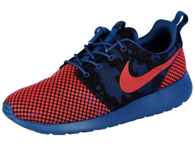 best service bef42 8e25d Nike Men s Roshe One Prem Plus Running Shoes-Brigade Blue Bright Crimson-10