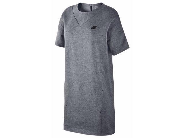cdac36ab4638 Nike Women s Sport Casual Tech Fleece Knit Dress-Gray-Small ...