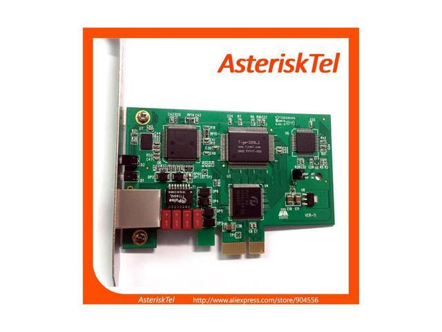 T1 Card E1 Card TE110E ,ISDN PRI SS7 Voice Card supports Asterisk FreePBX  Issabel AsteriskNow Compatible with digium card driver dahdi , PCI-E