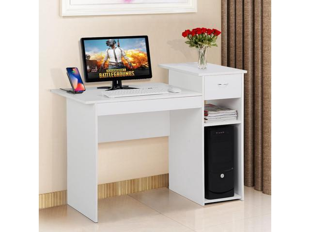 Yaheetech Modern Compact Computer Desk With Drawer And