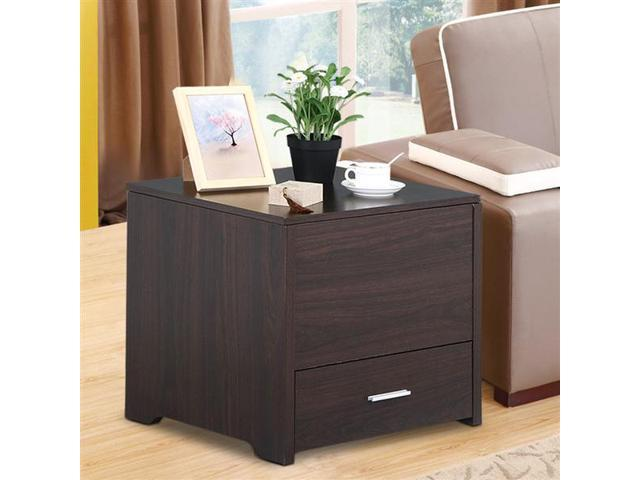 Yaheetech Wood Bedside Table Cabinet With Storage Drawer ,Sofa Side End  Table Bedroom Living Room