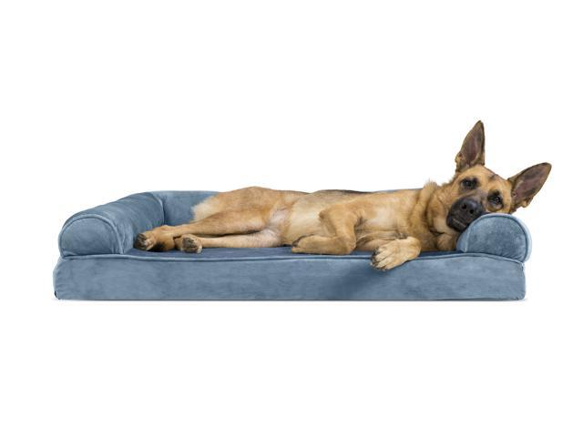 Surprising Furhaven Pet Dog Bed Memory Foam Faux Fur Velvet Couch Sofa Style Pet Bed For Dogs Cats Harbor Blue Jumbo Newegg Com Ibusinesslaw Wood Chair Design Ideas Ibusinesslaworg