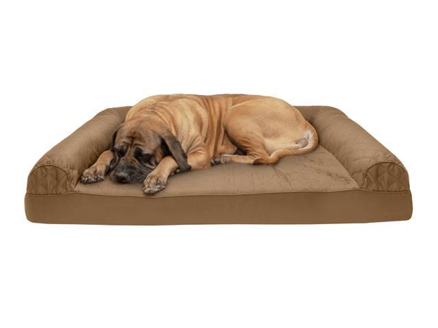 Incredible Furhaven Pet Dog Bed Cooling Gel Memory Foam Orthopedic Quilted Sofa Style Couch Pet Bed For Dogs Cats Toasted Brown Jumbo Plus Newegg Com Gmtry Best Dining Table And Chair Ideas Images Gmtryco
