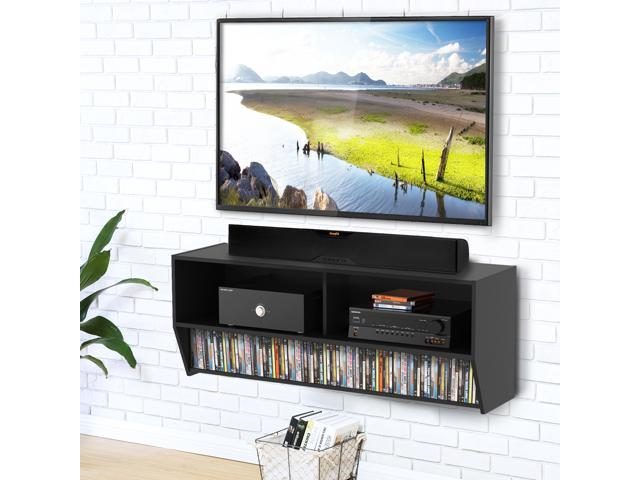 Fitueyes Floating Tv Stand Av Shelf Wall Mounted Audio Video Console Wood Grain For Xbox