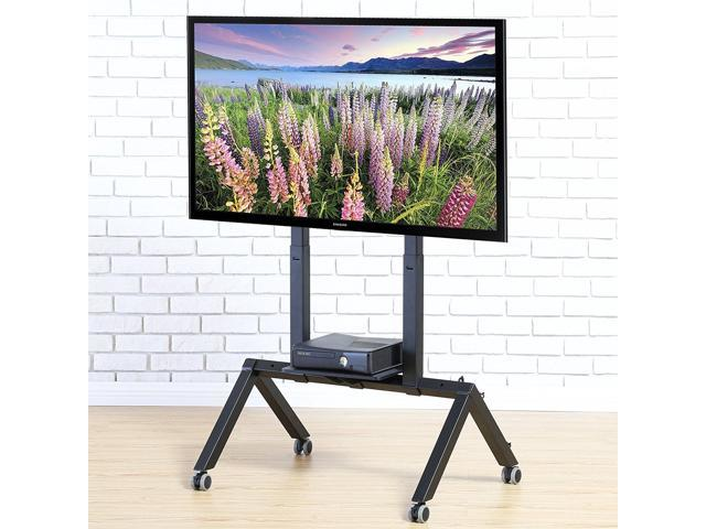 Fitueyes Mobile Tv Cart For Flat Panel Tv Stand With Wheels Fits 37