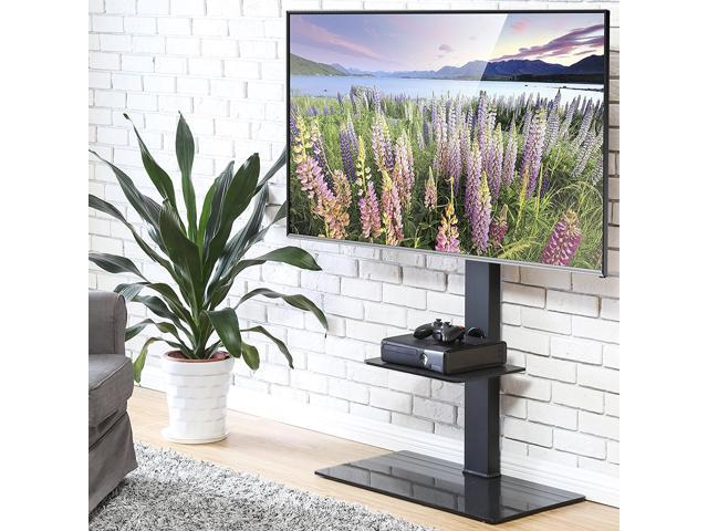 Fitueyes Swivel Tv Stand With Mount Height Adjustable For 50 80 Inch