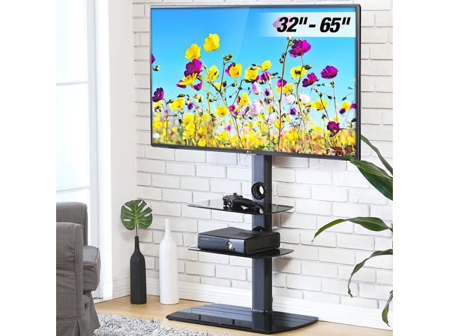 Fitueyes Floor Tv Stand With Swivel Mount Height Adjustable Bracket