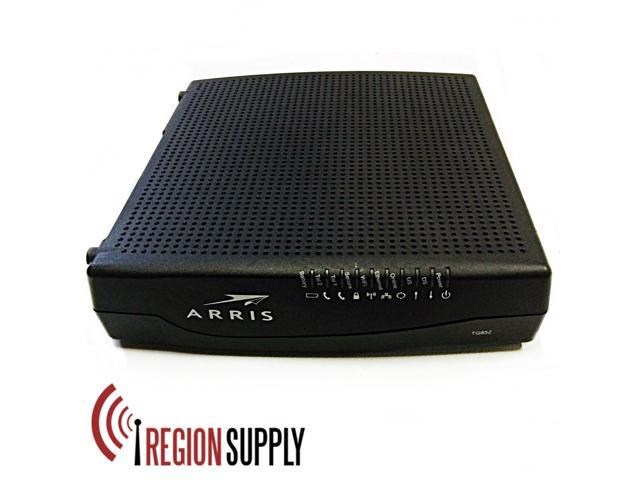 refurbished arris tg852g wifi telephony cable modem docsis 3 0 rh newegg com Xfinity WiFi Router Arris Router