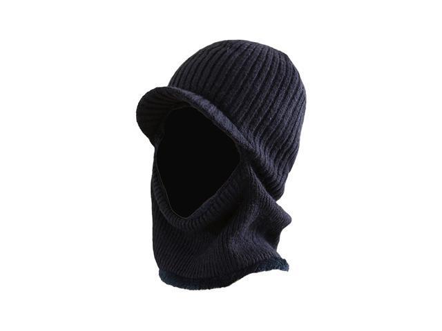 42387b20ec6 TinkSky Winter Warm Mask Hat Windproof Knitted Hat Visor Beanie Neck Warmer  Hat for Men Women