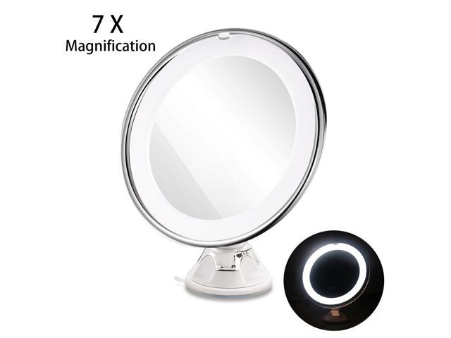 Tinksky Ruimio Adjule 7x Magnification Lighted Led Makeup Mirror Bathroom Vanity Travel With Strong