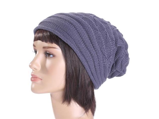 772e57391ed TinkSky Slouchy Fall Winter Hats Knitted Beanie Caps Soft Warm Ski Hat  Women Men Fashion Winter