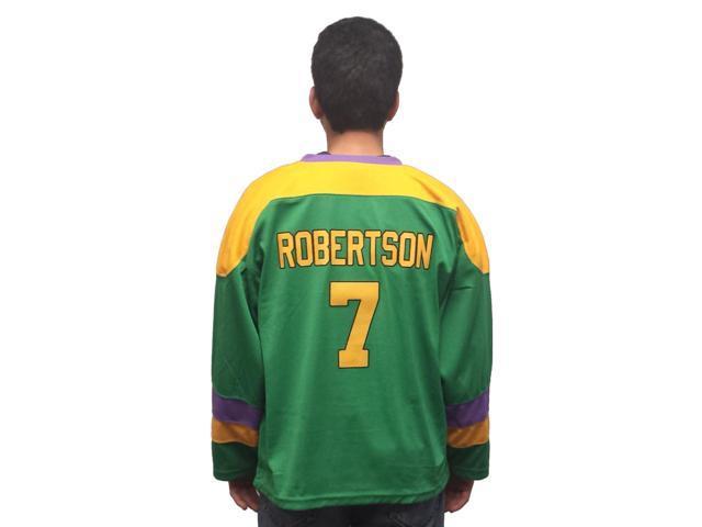 9f848f6c007 Dwayne Robertson #7 Mighty Ducks Movie Hockey Jersey Costume D2 2 Cowboy - Adult  Medium