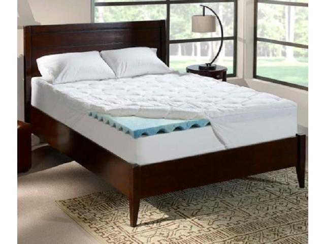 Serta Rest Queen 4 Inch Cushioned Gel Memory Foam Mattress