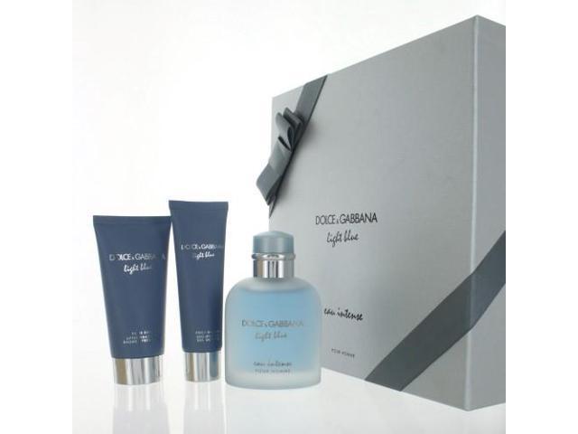 3baa6376 D & G Light Blue Eau Intense By Dolce & Gabbana - 3 PIECE GIFT SET ...