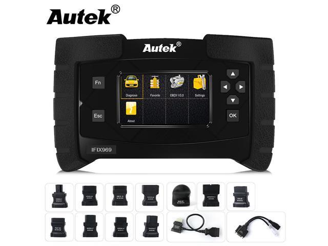 Autek IFIX 969 OBD2 Scanner CBS Oil Reset Airbag ABS Brake SAS EPB TPMS ESP  Immobilizer Auto HVAC Battery Transmission ECU Coding Check Engine Code