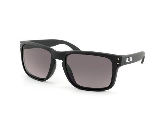 057ef0cbb Oakley OO9102-01 Holbrook Sunglasses - Matte Black Frame / Warm Grey Lens