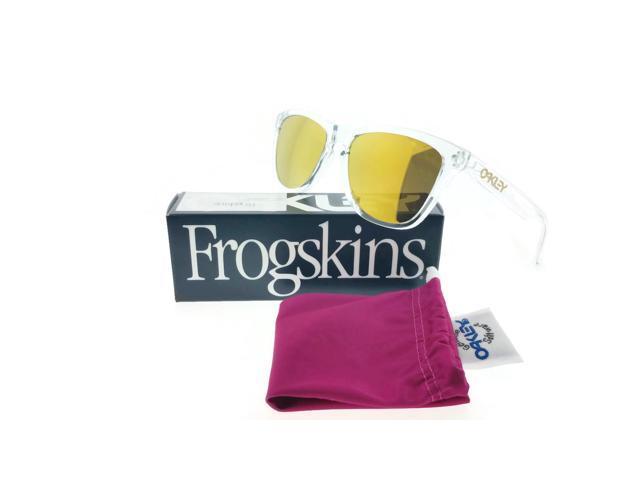 Oakley Frogskins Transparent/Gold Lens OO9013-A4 Sunglasses