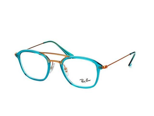 ca3463bffd Ray Ban RX7098-5632 Aviator Men s Turquoise Frame Genuine Eyeglasses NWT