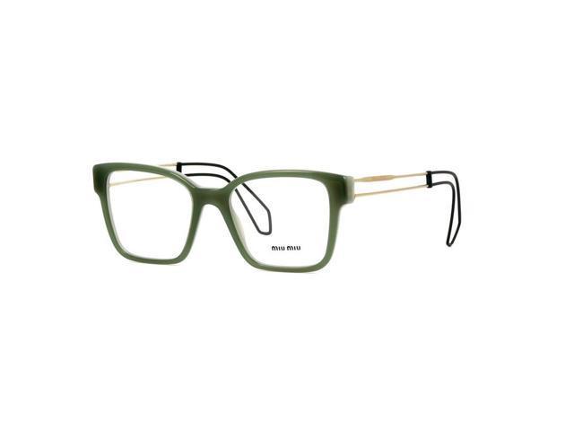 4cc2ca6cb6a Miu MIu MU02PV-USK1O1 Square Women s Green Frame Genuine Eyeglasses ...