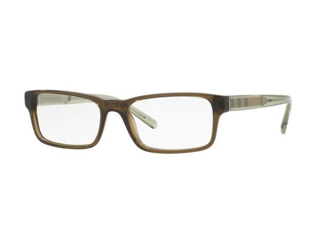 e0de64cfa13 Burberry BE2223F-3010 Rectangle Men s Olive Green Frame Genuine Eyeglasses  NWT
