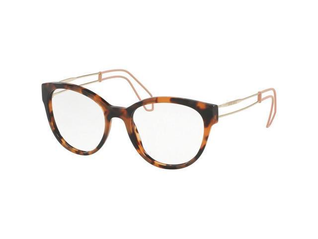 8216d2b28a2 Miu MIu MU03PV-USM1O1 Oval Women s Havana Frame Clear Lens Genuine  Eyeglasses NWT