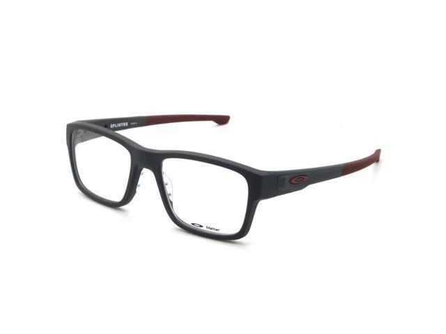 1097afbdb8 Oakley OX8077-0654 Splinter Men s Grey Frame Clear Lens Eyeglasses New In  Box