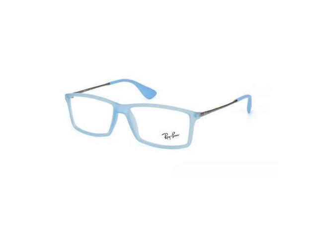 ce9a8b9927 Ray Ban RX7021-5370 Matthew Men s Blue Frame Clear Lens Eyeglasses NWT