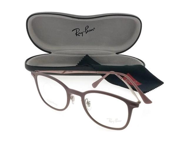 e5d8ab9416a Ray Ban RB7051-5690 Round Unisex Bronze Frame Clear Lens Genuine Eyeglasses  NWT