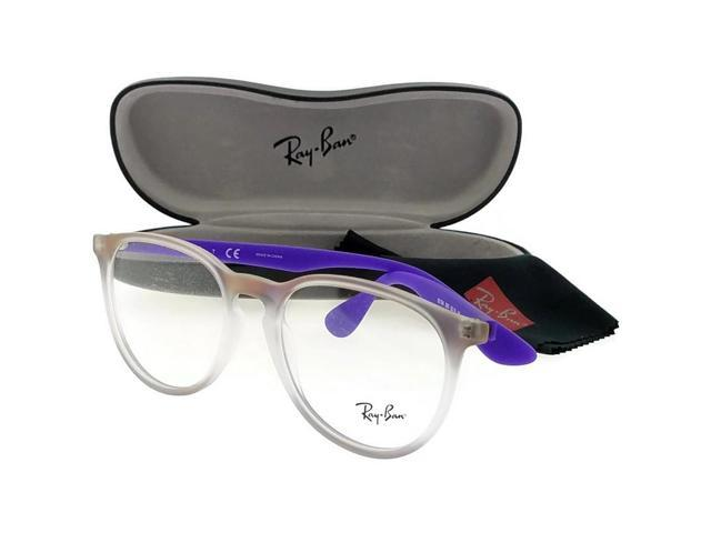 958c375824803 Ray Ban RX7046-5600 Erika Unisex Purple Frame Clear Lens Genuine Eyeglasses  NWT