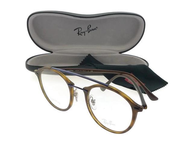 ca41c423a82 Ray Ban RX7111-5692 Round Women s Tortoise Frame Clear Lens Genuine  Eyeglasses