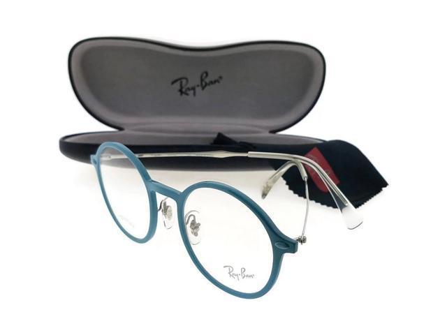 24dbe3804b Ray Ban RX7087-5638-48 Round Women s Blue Frame Clear Lens Genuine  Eyeglasses