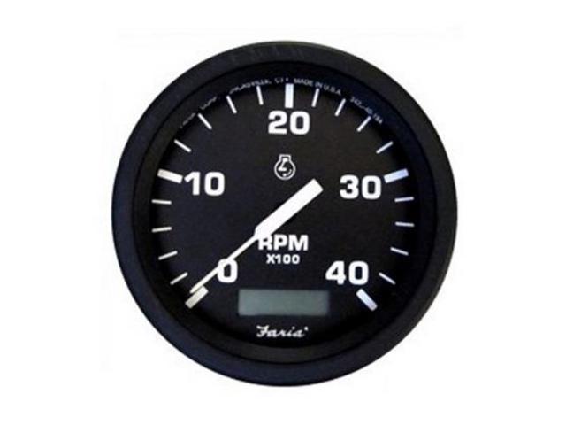 Tachometer With Hour Meter : Td new volt tachometer tach hour meter alternator pulsed