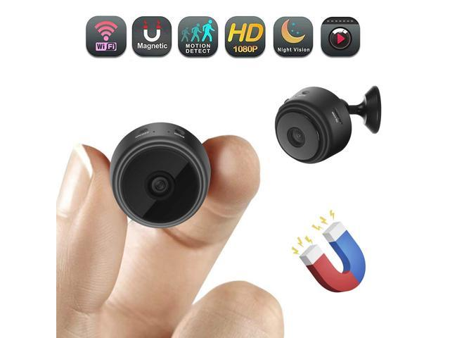 Mini Spy Camera Magnet, WiFi Portable Hidden SPY Cam HD 1080P Wireless IP  Security Camera with Motion Detection/Night Vision for IPhone/Android