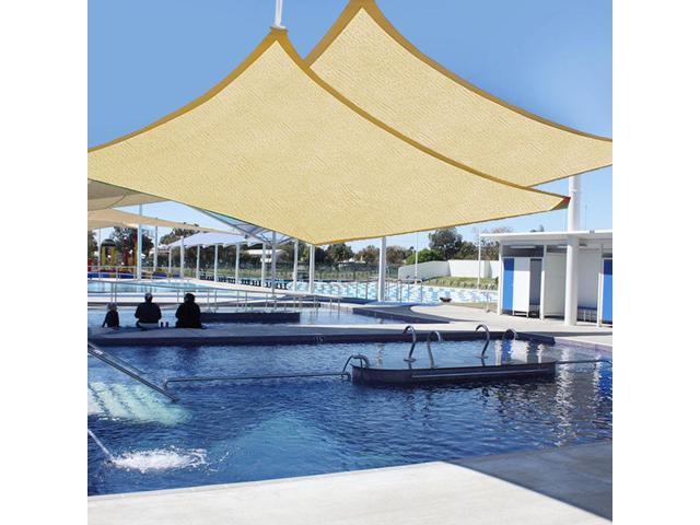 20 X 16 Sun Shade Sail Outdoor Patio Pool Lawn Rectangle Cover