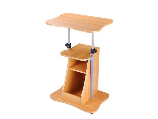 Computers/tablets & Networking Stands, Holders & Car Mounts Adjustable Height Rolling Mobile Stand Laptop Storage Desk Cart Office Lecture