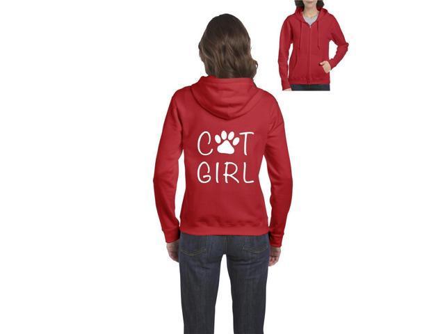 28121aef9 Artix Cat Girl Full-Zip Women's Hoodie Clothes XXX-Large Red ...