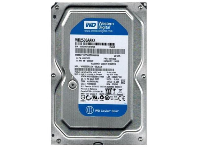"Western Digital WD2503ABYX-01WERA1 250GB 3.5/"" 7.2K RPM SATA Hard Drive"