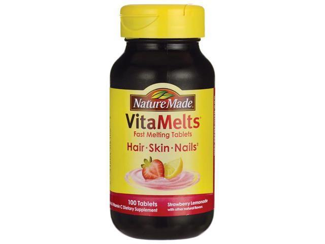 Nature Made Vitamelts Hair Skin Nails Strawberry L 100 Tabs