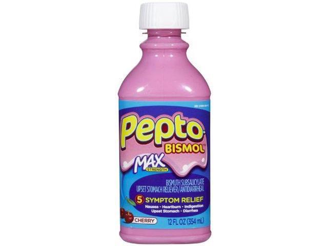 Pepto Bismol Max Strength Liquid Cherry 12oz Newegg