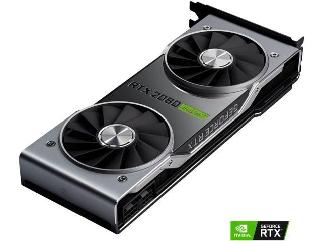 NVIDIA - NVIDIA GeForce RTX 2080 Super 8GB GDDR6 PCI Express 3.0 Graphics Card - Black/Silver 9001G1802540000