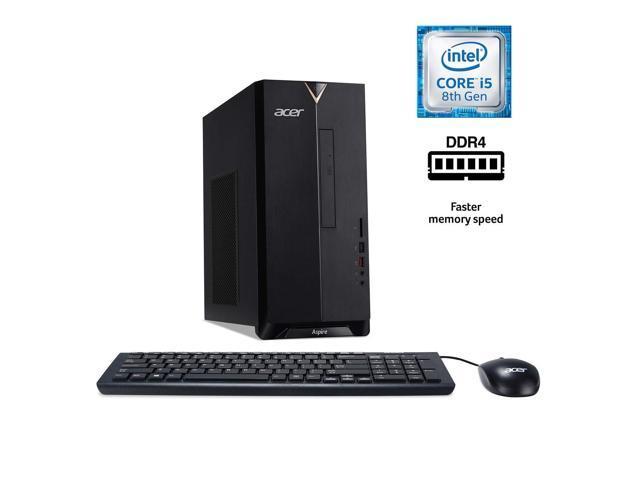 Acer Aspire TC-885-UA92 Desktop, 9th Gen Intel Core i5-9400, 12GB DDR4, 512GB SSD, 8X DVD, 802.11ac WiFi, USB 3.1 Type C, Windows 10 Home Computer PC