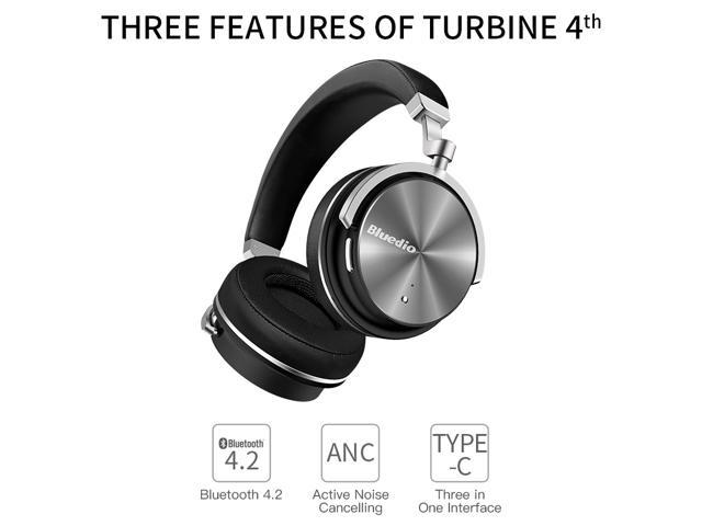 71aca424d7d Bluedio T4 (Turbine) Active Noise Cancelling Over-ear Swiveling Wireless Bluetooth  Headphones with