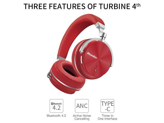 341b896bee8 Bluedio T4 (Turbine) Active Noise Cancelling Over-ear Swiveling Wireless  Bluetooth Headphones with