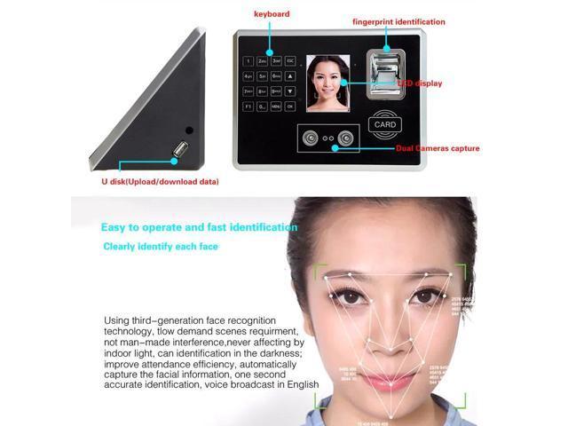 DANMINI A502 2 8-Inch Screen Free-software Face Fingerprint ID card  Recognition Attendance Machine Attendance Recorder black - Newegg com