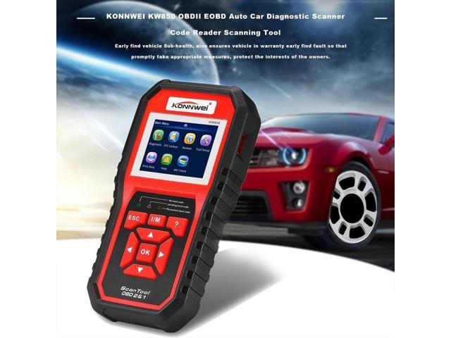 KONNWEI KW850 OBDII EOBD Auto Car Diagnostic Scanner Code Reader Scanning  Tool black & red - Newegg com