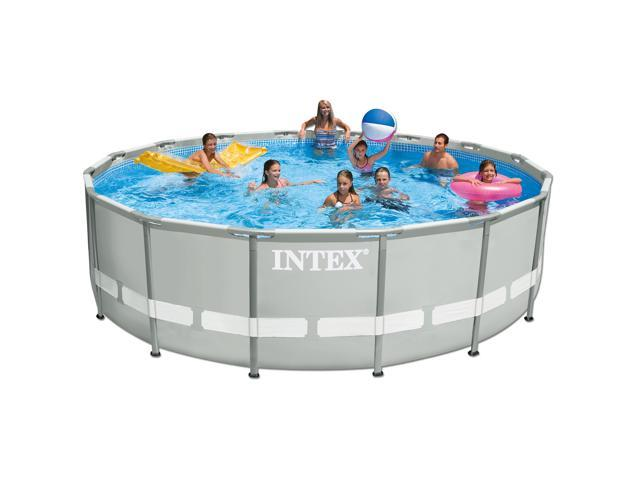 14 Foot x 42 Inch Intex Ultra Frame Round Above Ground Swimming Pool ...