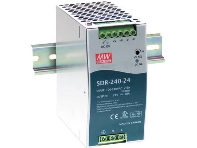 B+B Smartworx SDR-240-24 Power Supply 24V 10A 240W Din Pfc Function 24V 10A  240W - Newegg com