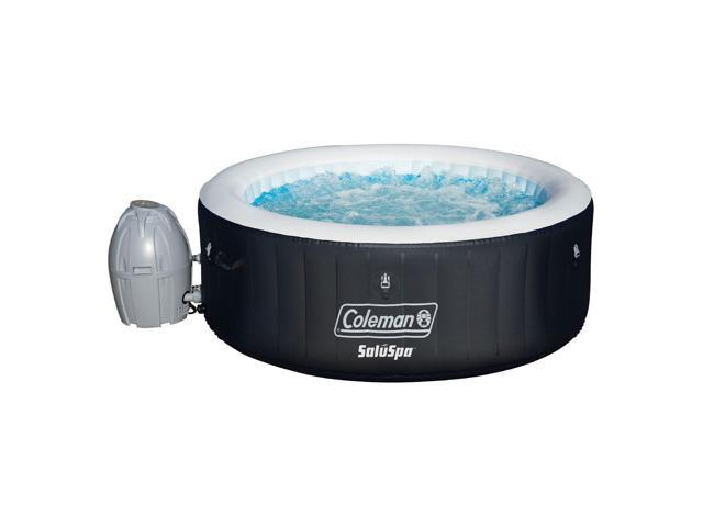 Coleman Saluspa Portable 4 Person Outdoor Inflatable Hot Tub Spa W Pump Black