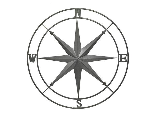 Outdoor Compass Rose Wall